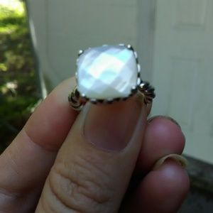 Rare mother of Pearl sincerity twist ring